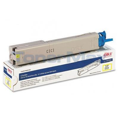 OKI C3400N SERIES TONER CARTRIDGE YELLOW 2K